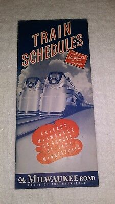 Chicago Milwaukee St.Paul and Pacific Timetable (1941)(#2)