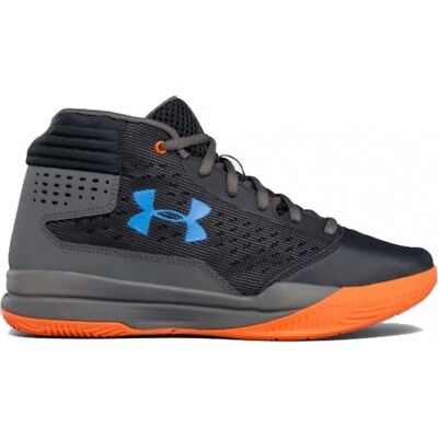 new style 4091b a9327 KID S UNDER ARMOUR BPS Jet 2017 Basketball Shoes - Gray Orange Blue - NIB!  - EUR 29,17   PicClick FR