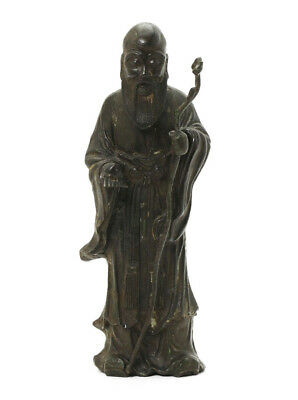 *sc*rare Large Chinese Bronze Figure Of Shau Lao, Ming Dynasty!!