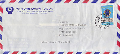 CHINA-TAIWAN  Luftpostbrief airmail cover 1977  Lions-Club