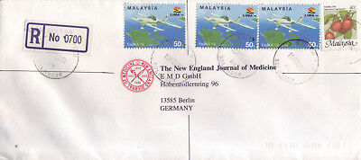 MALAYSIA  R-Luftpostbrief   registered air mail cover 1993
