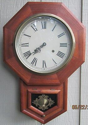 Vintage Wall Clock Antique style Mahogany Handcrafted in 1977 No.96
