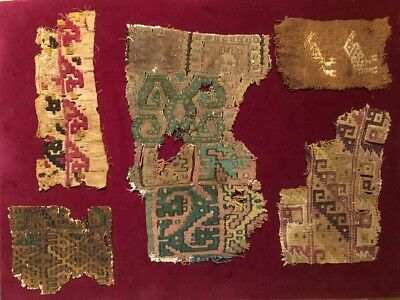 A Group Of Pre-columbian Textile Fragments