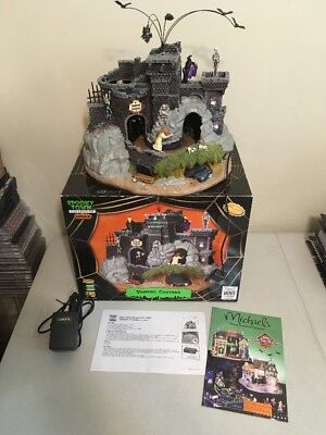 Spooky Town Collection by Lemax Animated Musical Lights VAMPIRE CAVERNS w/ Box