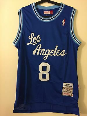 Kobe Bryant #8 Los Angeles Lakers Blue Throwback Classic Sewn Basketball Jersey