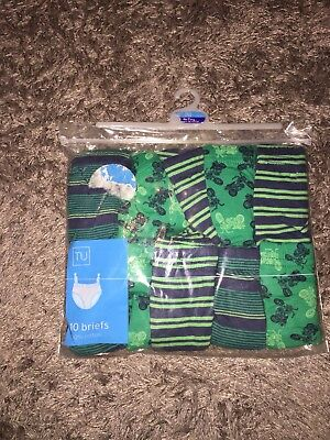 Boys NEW 10 Pack Of Briefs Age 6-7 Years From Sainsburys