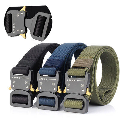 Tactical Belt, Military Style Webbing Riggers Web Belt with Heavy Duty Buckle