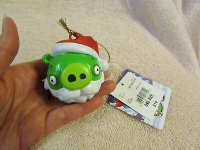 NEW Angry Birds Green Christmas Ornament Bearded Pig NWT