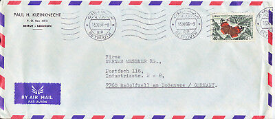 LIBANON  Luftpostbrief   air mail cover 1966
