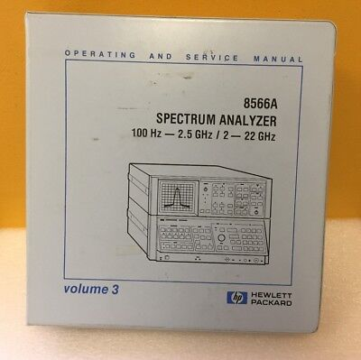 Test, Measurement & Inspection HP 8566A SERVICE & OPERATION ...