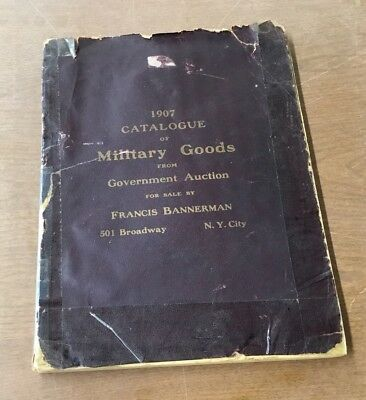 1907 Military Auction Catalog - Government Surplus - Francis Bannerman - N. Y.