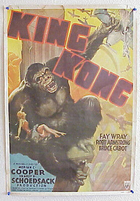 King Kong 1933 Antique Classic Rko Radio Pictures Litho In Usa Poster Ca. 94965