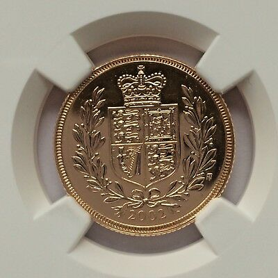 2002 Full Sovereign gold coin NGC MS67 SPECIAL GOLDEN JUBILEE
