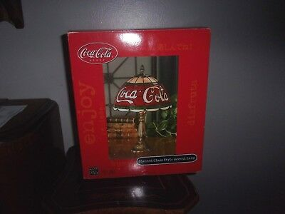 Coca-Cola Stained Glass Style Lamp NIB