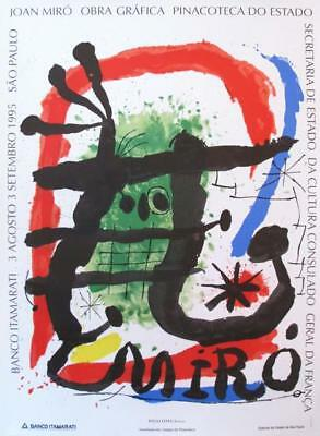 JOAN MIRO: ORIGINAL EXHIBITION POSTER 1995 Pinacoteca do Estado