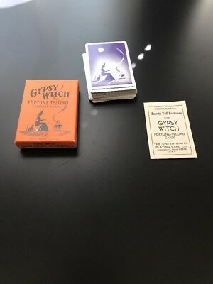 Vintage Gypsy Witch Fortune Telling Cards Instructions Tarot