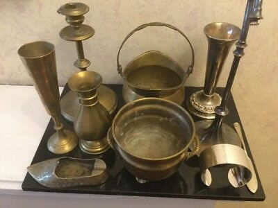 Collection Of Silver Plated And Brass Metalware