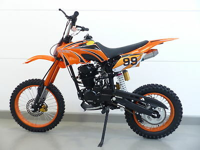 250ccm Dirt Bike Dirtbike Cross Pitbike 250cc RV-Racing Enduro E-Starter Orange