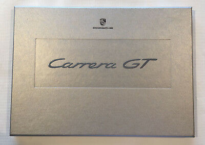Porsche 2003 Carrera GT Presentation Hard Cover Box Sales Brochure