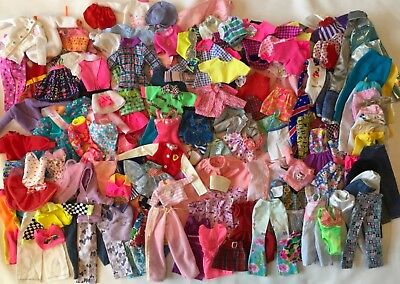 Mixed Lot 150+ Pcs Barbie Doll Clothes Pants Dresses Tops PJs Skirts Swimsuits