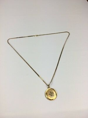 Vintage Coca Cola One Of A Kind Medallion With 10k Gold Neclace P55