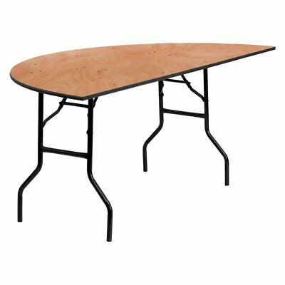 Flash Furniture YT-WHRFT72 72 in. Half-Round Wood Folding Banquet Table