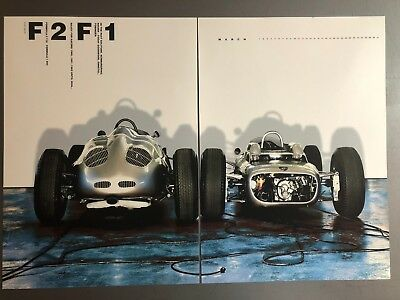 """2006 Porsche """"F2, F1"""" Formula Race Cars Advertising 2 Poster Set RARE!! Awesome"""
