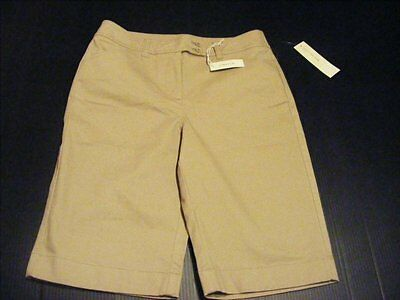 e492c592d9 JONES NEW YORK Womens Size 8 Beige Sport Stretch Knit Walking Shorts New