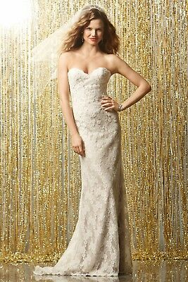 Stunning Wtoo by Watters Parisian lace wedding dress