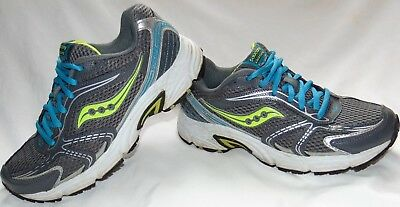 978fa92fb9fe WOMENS GRAY & Neon SAUCONY OASIS Athletic Running Sneakers Shoes Sz ...