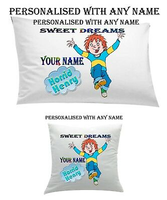 #Horid Henry Personalised Pillow Case Cushion, Cover, Protector, Bedding Xmas