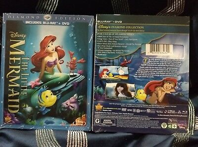 THE LITTLE MERMAID Diamond Edition Blu-ray + DVD 2013, 2-Disc BRAND NEW No Code