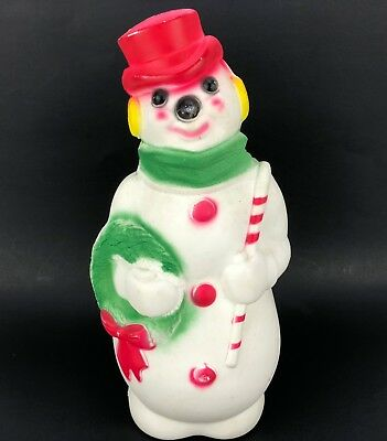 Vtg 1960s Empire Frosty Snowman Blow Mold Christmas Table Yard Decoration 13""