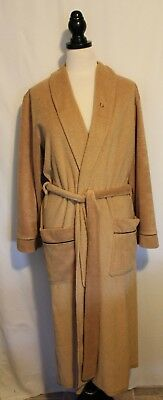 CHRISTIAN DIOR MONSIEUR VINTAGE ~  Caramel Poly Cotton Terry Dressing Gown 18 XL