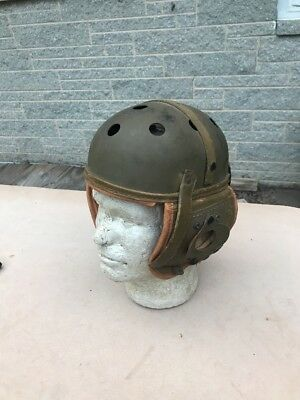 WW2 US M-38 Tankers Helmet Rawlings Size 7 1/4 Good Condition (A29