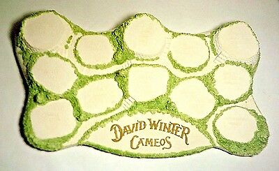 David Winter Cottages Diorama Cameo Display ~ NEW w/Box ~ Unusual Light Shading