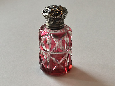 Victorian Cut Overlay Scent Bottle