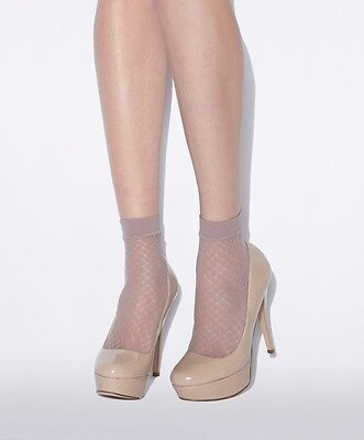 Jonathan Aston Fan Net Lace Anklet In Blush Pink One Size Made In Italy