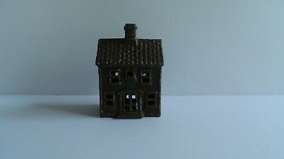 Vintage Cast Iron Two Story House Miniature