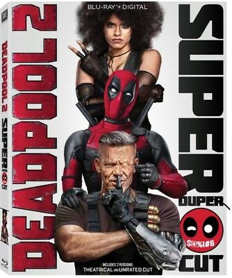Deadpool 2 (Blu-ray+Digital, 2018; 2-Disc Super Duper $@%!#& Cut) w/ Slipcover
