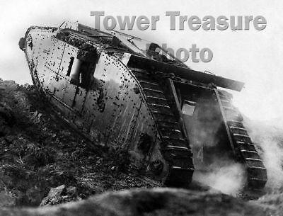World War I  ***  Mk. IV TANK   ***  1917  Photo Print (8.5 x 11)