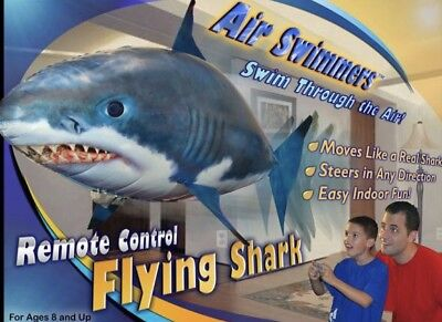 Air Swimmers Remote Control Flying Shark Week Toy Balloon Gift NIB FREE SHIP