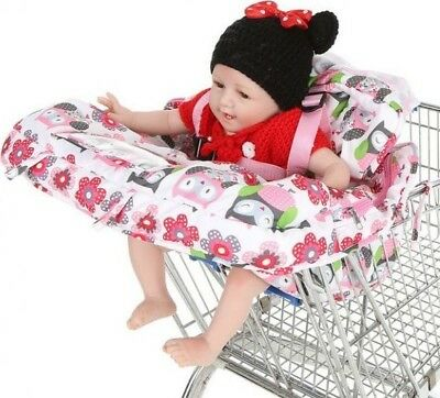 2-in-1Supermarket Shopping Cart High Chair Cover Child Compact Portable