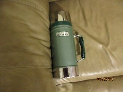 Vintage ALADDIN STANLEY WIDE MOUTH THERMOS BOTTLE A-1350-B HANDLE 24 Oz USA