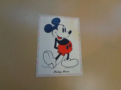 """Vintage 5"""" x 7"""" Mickey Mouse Card-Walt Disney Productions"""