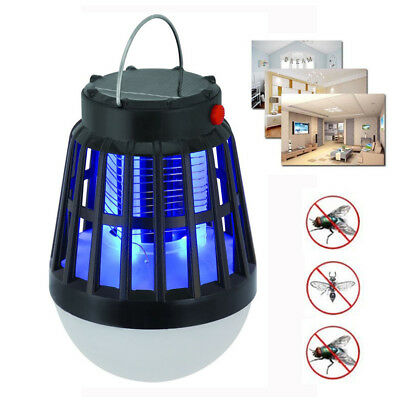 Solar Powered Buzz UV Lamp Light Fly Insect Bug Mosquito Zapper Killer LOT BS