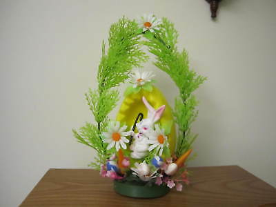 Vintage Easter Hong Kong Plastic Decoration Bunny/Floral/Carrots/EGG