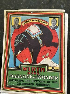 Old WIRTH BROS - Magazine -  8 Pages Only (2 Leaflets)