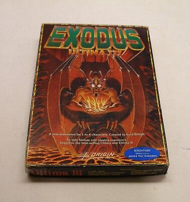 Ultima III Complete in the Box for Macintosh