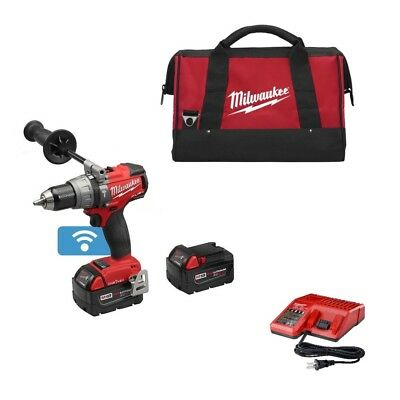 "Milwaukee 2706-22 M18 FUEL 18V 1/2"" Hammer Drill/Driver w/ Batteries & One Key"